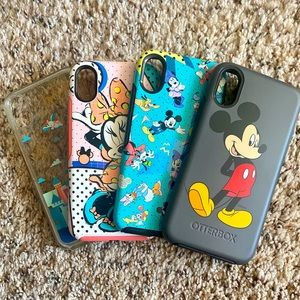 Disney Mickey Otterbox iPhone X/Xs cases- Set of 4